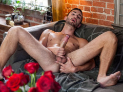 Gay Twink Preston Cole jerks off his massive cock   Download from Files Monster