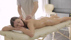 Relaxed Lesya enjoys the massage therapists big hands all over her ass. | Download from Files Monster