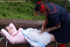 Public Park Sissy Bondage and Chastity Humiliation Schoolyard Bully
