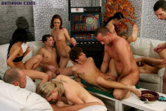 Big Bisexual Orgy Got Off To The Hardcore As Fuck Start