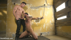 Rikk York Loves to Lick Leather while being Chained and Flogged