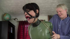 Johannie - Green Latex and Tight Rope