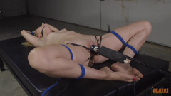 Cutie Pie Blonde Cums in Bondage