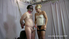 Extrmely Cruel Face Slapping clip with Milking humiliation