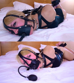 Super bondage and hogtie for a beautiful young model