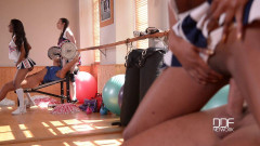 Cheerleader Boot Camp - Hot Babes Get Their Cunnies Filled | Download from Files Monster