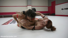 Beautiful big Tittied Wrestlers Struggle to make each other cum | Download from Files Monster