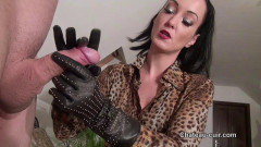 Luxury leather handjob | Download from Files Monster