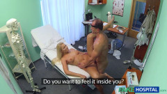 Horny busty blonde receives a creampie from the doctor | Download from Files Monster