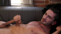 Gay Twink Preston Cole jerks off his massive cock | Download from Files Monster