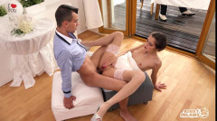 Hot Czech Cindy Shine fucks stepson and gets cum on tits at her wedding   Download from Files Monster
