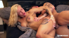 XXX Fit Sandy - Hot alternative German minx fucks horny stranger on couch   Download from Files Monster