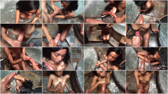 Small black girl handles a big white dick | Download from Files Monster
