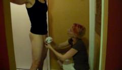 Handjob Using White Cotton Panties   Download from Files Monster