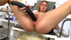 At the gynecological chair while the doctor came masturbated | Download from Files Monster